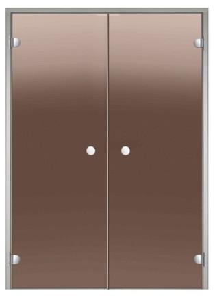 HARVIA Двери стеклянные, двойные, бронза (для турецких парных)
