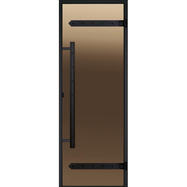 HARVIA Двери стеклянные LEGEND, бронза, для сауны
